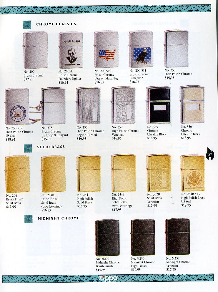 Catalogue ZIPPO Collection 1997 (version américaine) 2711