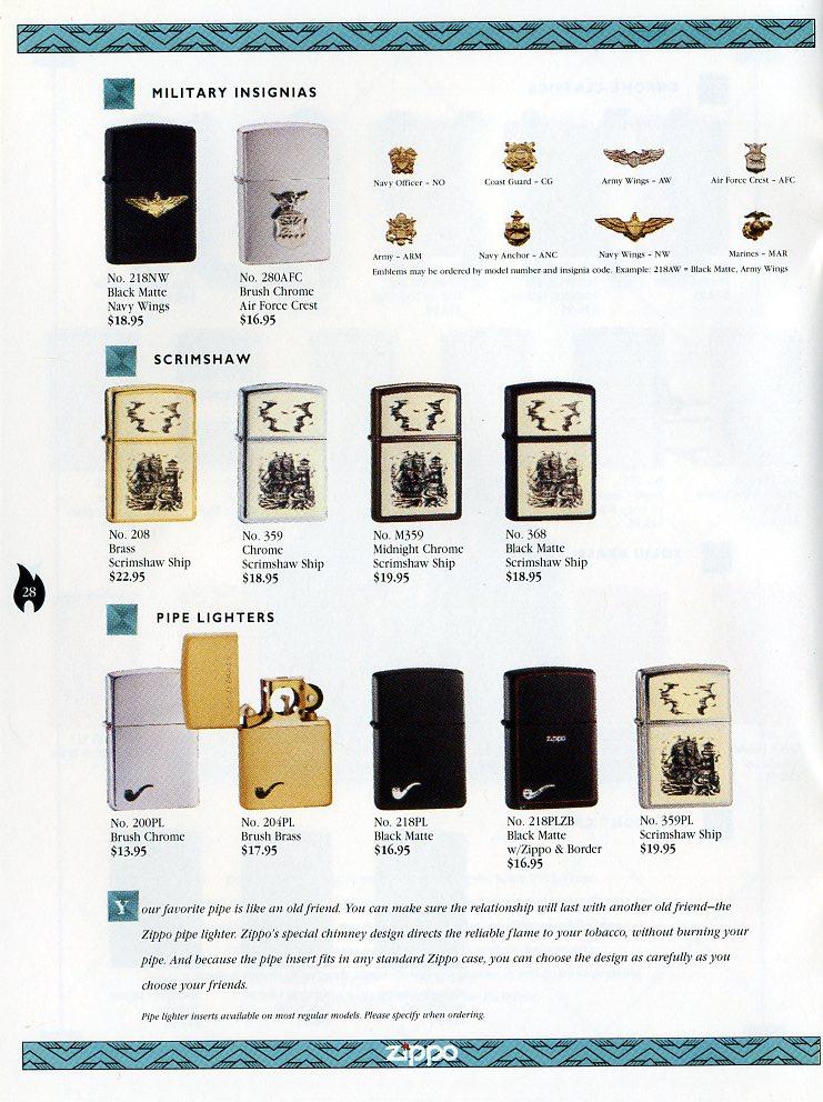 Catalogue ZIPPO Collection 1997 (version américaine) 2811