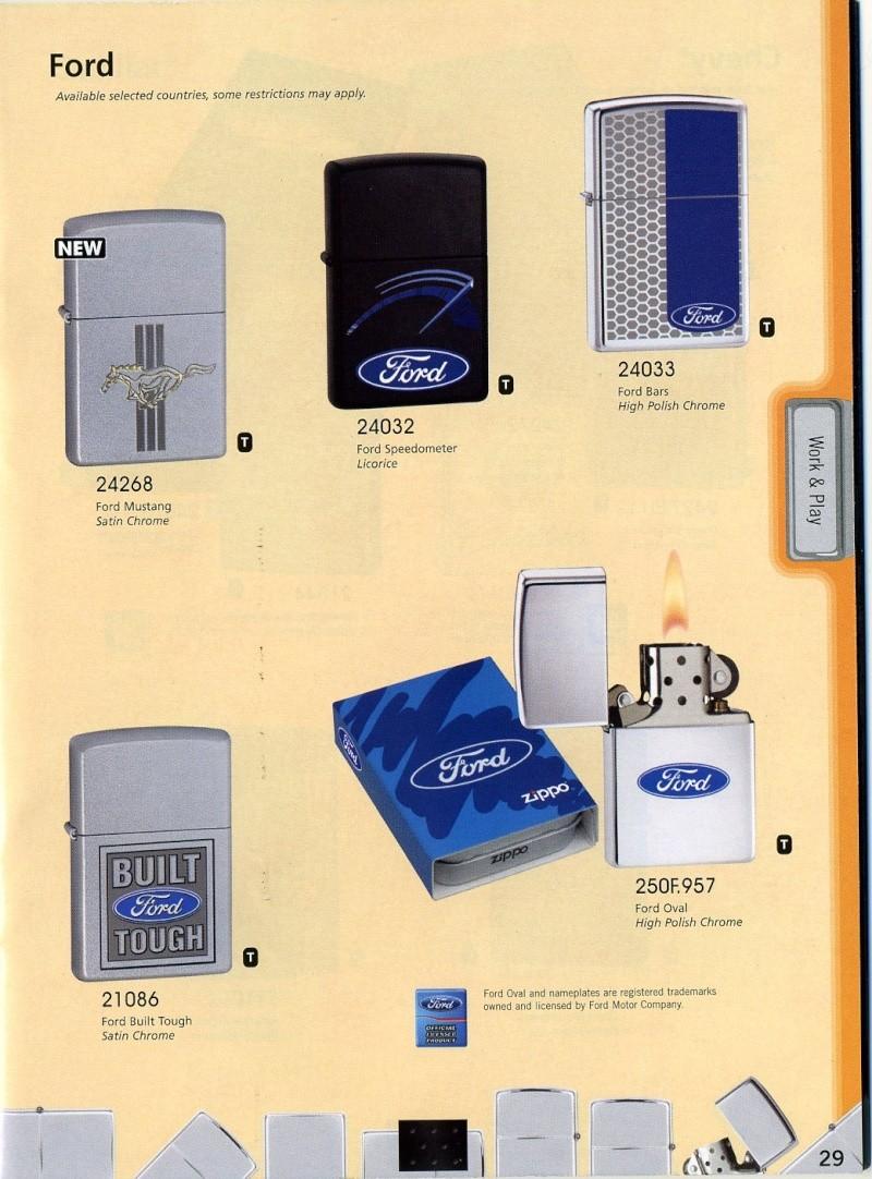 Catalogue ZIPPO 2008 Complete line (version américaine) 2910