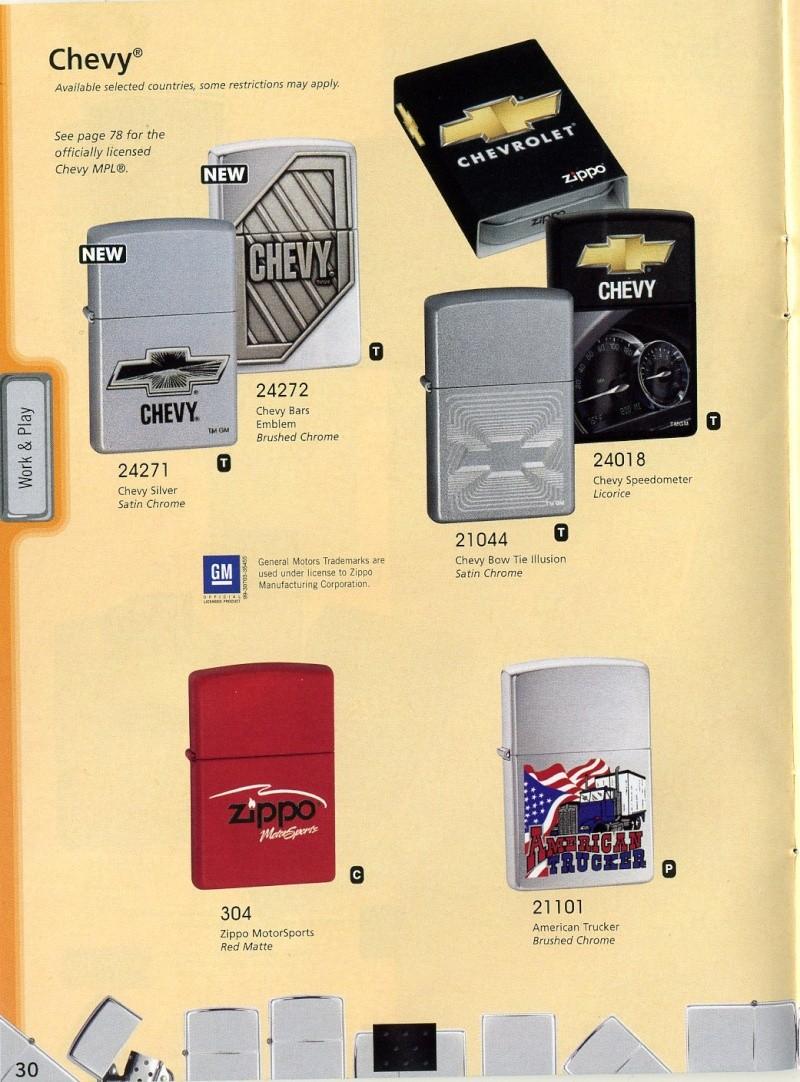 Catalogue ZIPPO 2008 Complete line (version américaine) 3010