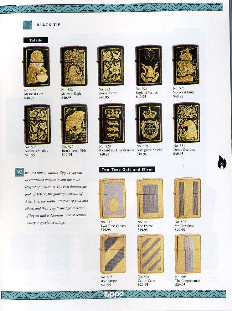 Catalogue ZIPPO Collection 1997 (version américaine) 3111