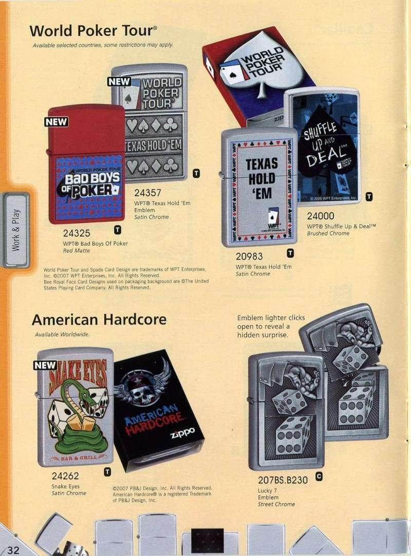 Catalogue ZIPPO 2008 Complete line (version américaine) 3210