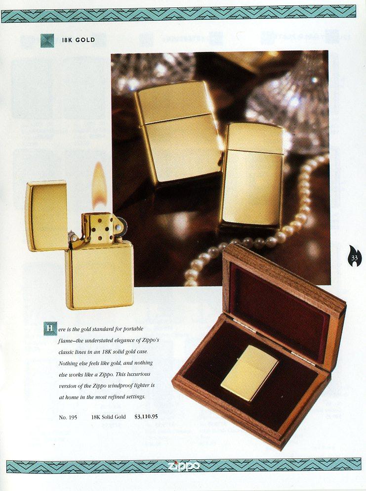 Catalogue ZIPPO Collection 1997 (version américaine) 3311