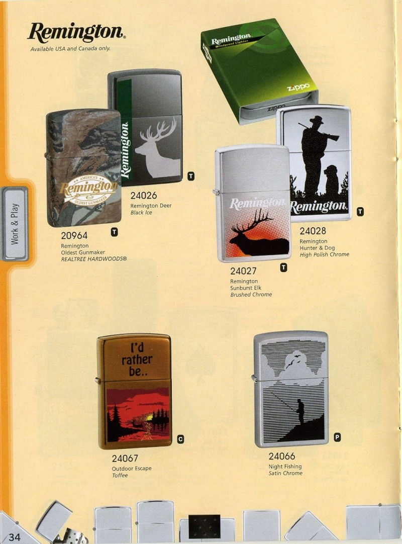 Catalogue ZIPPO 2008 Complete line (version américaine) 3410