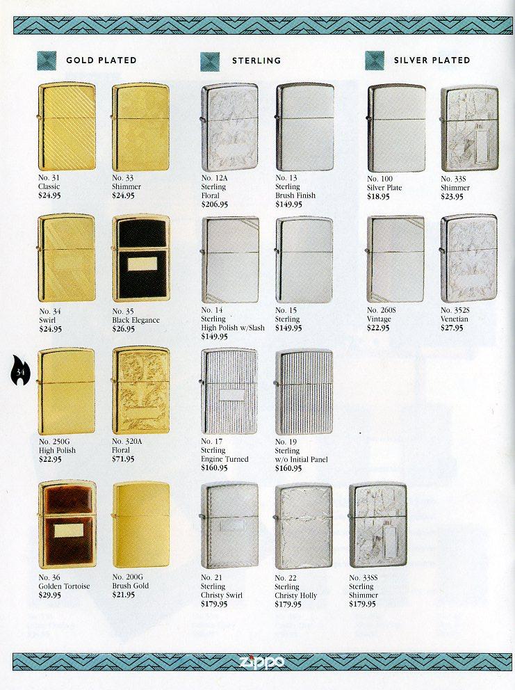 Catalogue ZIPPO Collection 1997 (version américaine) 3411