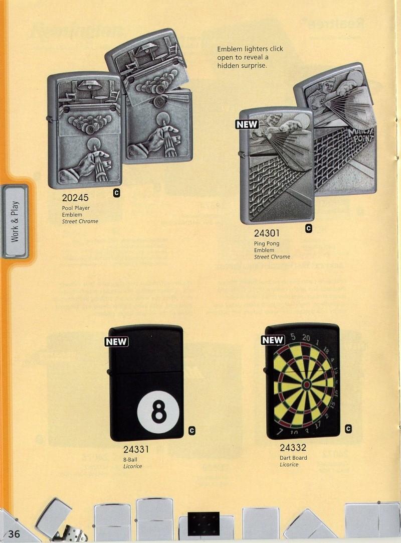 Catalogue ZIPPO 2008 Complete line (version américaine) 3610