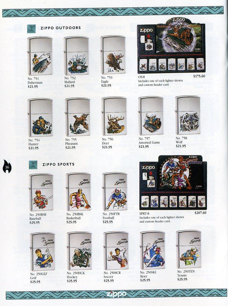 Catalogue ZIPPO Collection 1997 (version américaine) 3611