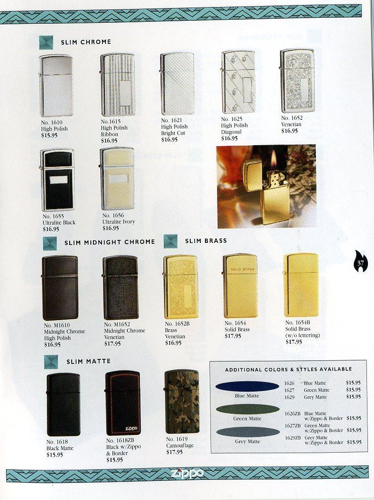 Catalogue ZIPPO Collection 1997 (version américaine) 3711