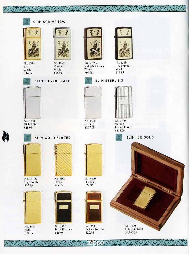 Catalogue ZIPPO Collection 1997 (version américaine) 3811