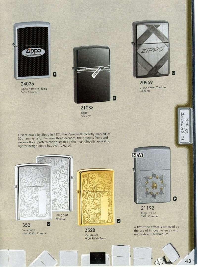 Catalogue ZIPPO 2008 Complete line (version américaine) 4310