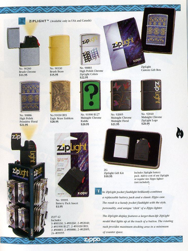 Catalogue ZIPPO Collection 1997 (version américaine) 4311