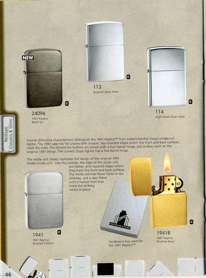 Catalogue ZIPPO 2008 Complete line (version américaine) 4610
