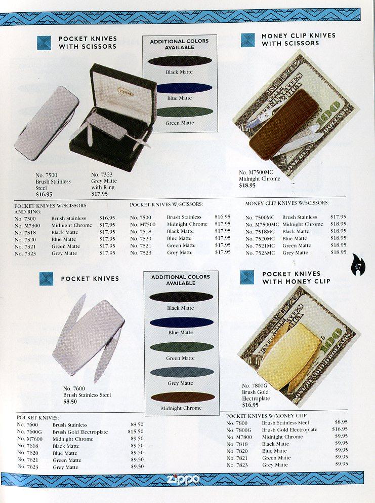 Catalogue ZIPPO Collection 1997 (version américaine) 4711