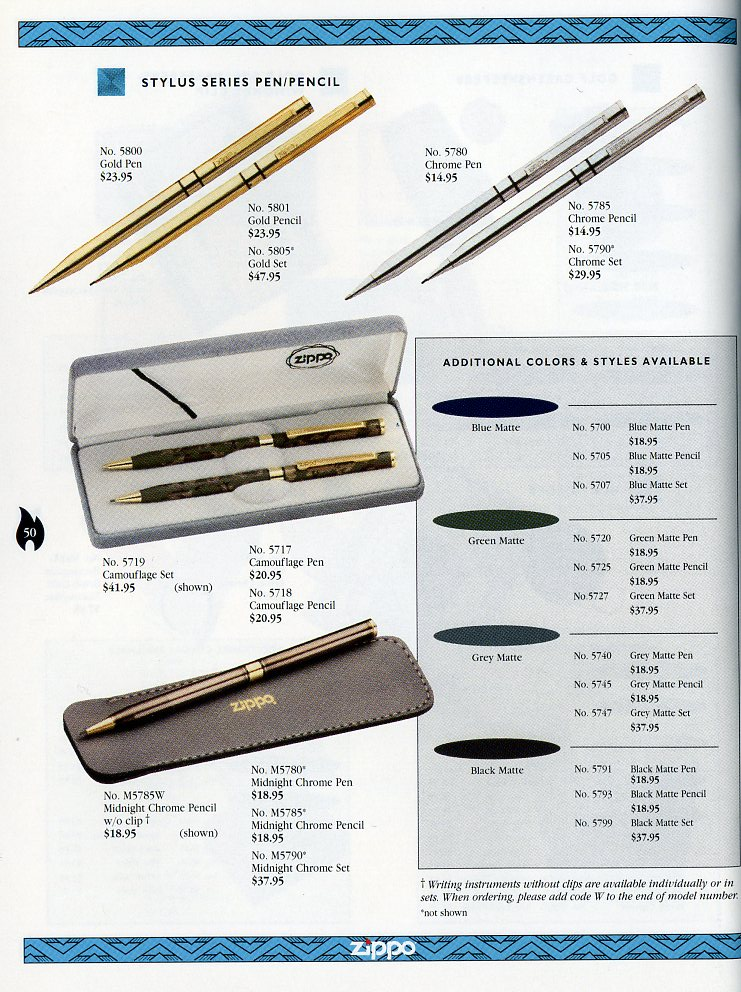 Catalogue ZIPPO Collection 1997 (version américaine) 5011