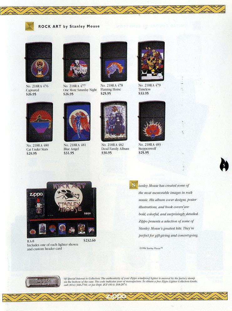 Catalogue ZIPPO Collection 1997 (version américaine) 511