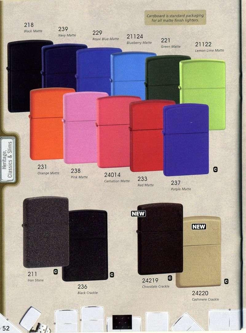 Catalogue ZIPPO 2008 Complete line (version américaine) 5210