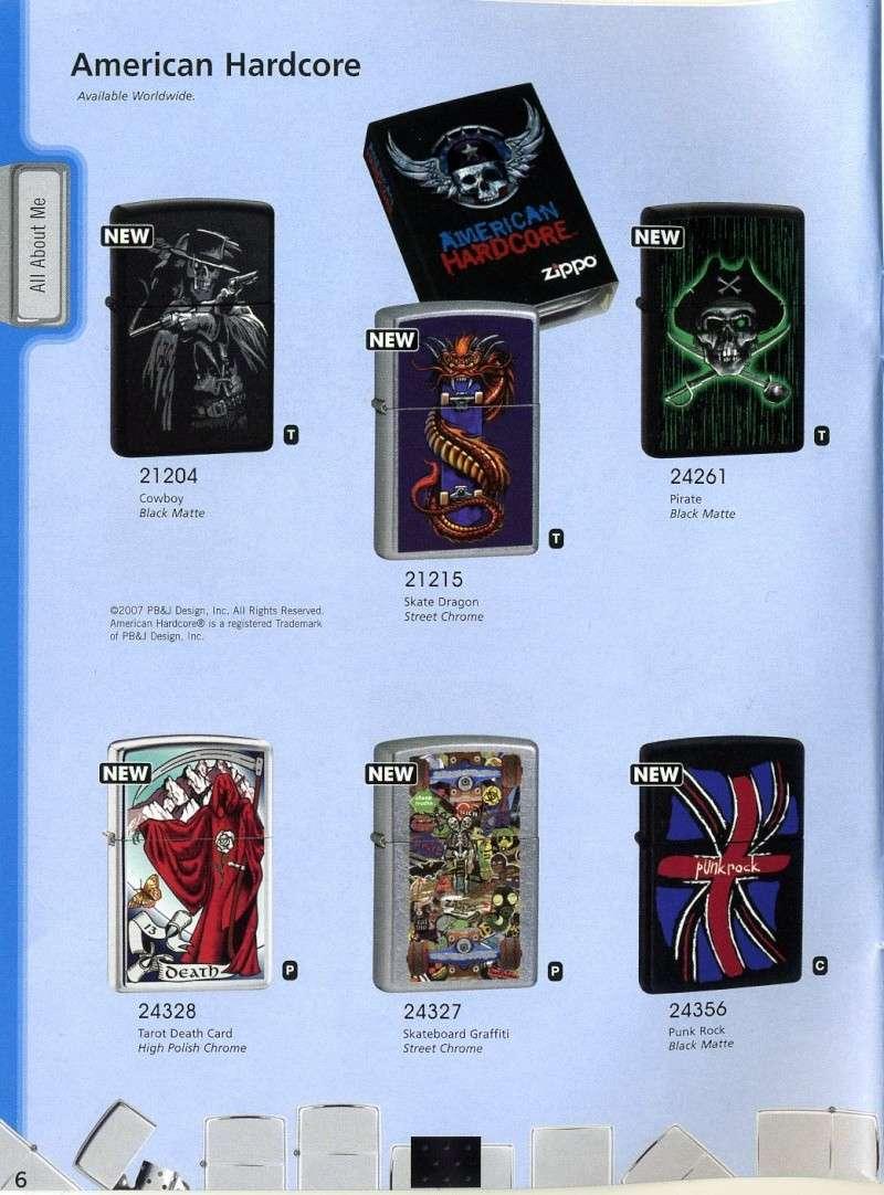 Catalogue ZIPPO 2008 Complete line (version américaine) 610