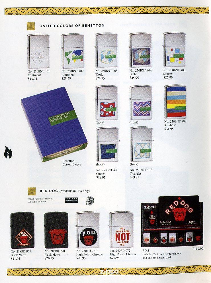 Catalogue ZIPPO Collection 1997 (version américaine) 611