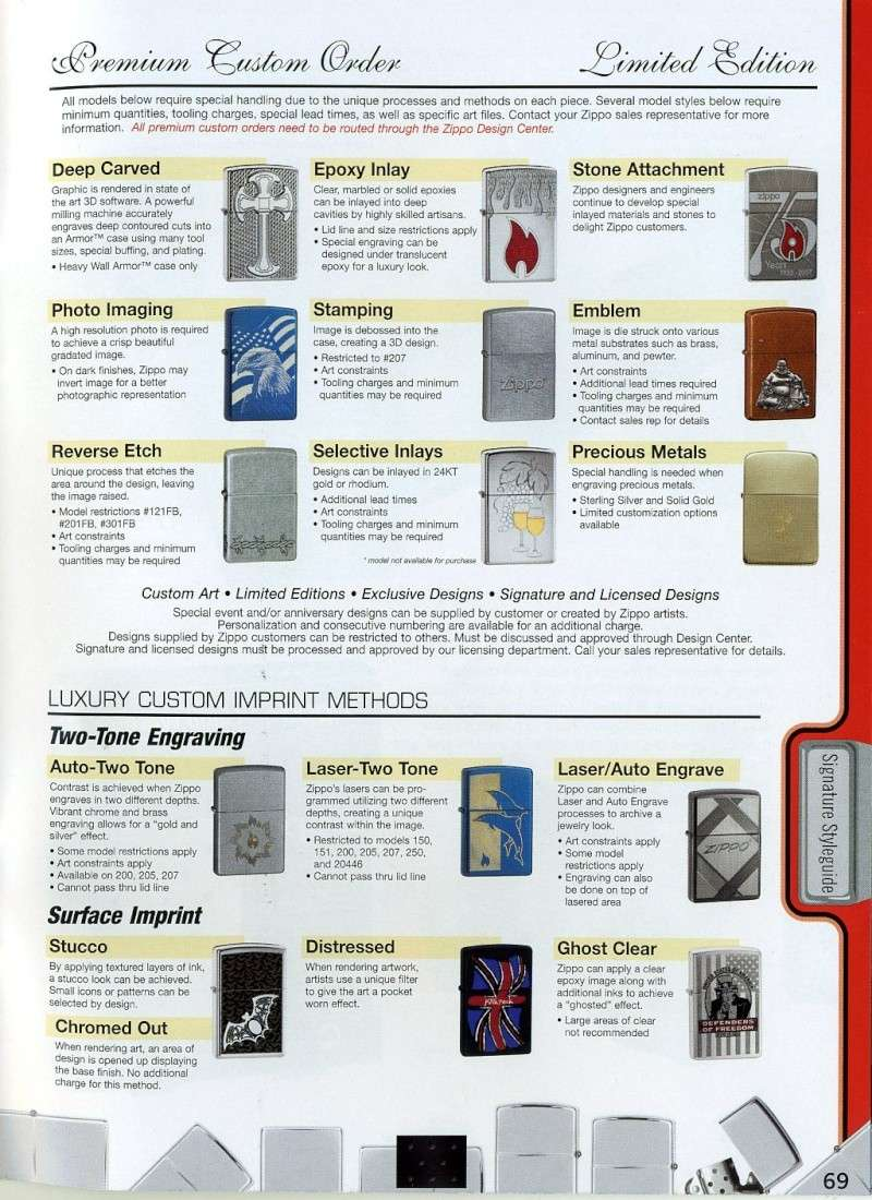 Catalogue ZIPPO 2008 Complete line (version américaine) 6910