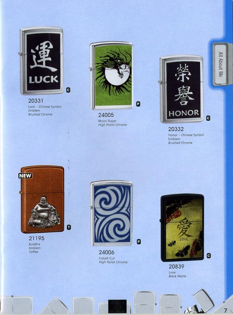 Catalogue ZIPPO 2008 Complete line (version américaine) 710
