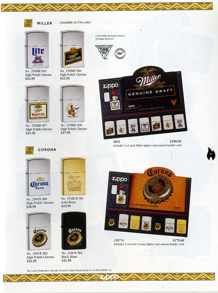 Catalogue ZIPPO Collection 1997 (version américaine) 711