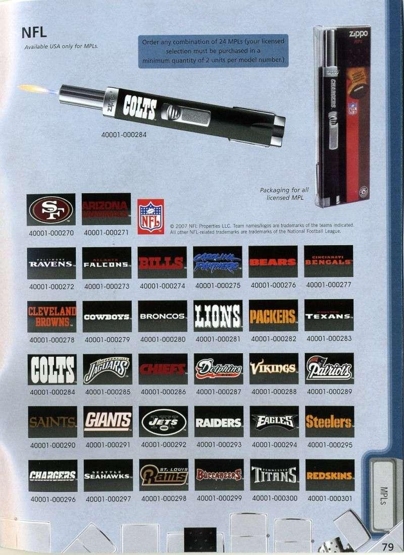 Catalogue ZIPPO 2008 Complete line (version américaine) 7910
