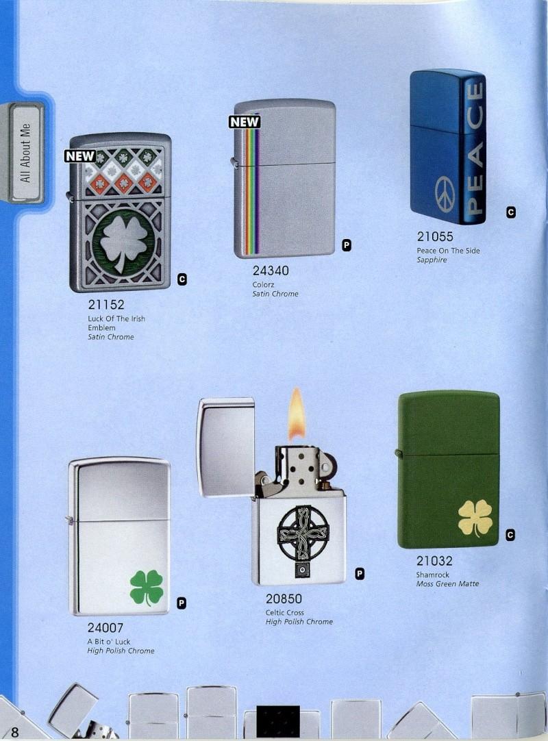 Catalogue ZIPPO 2008 Complete line (version américaine) 810