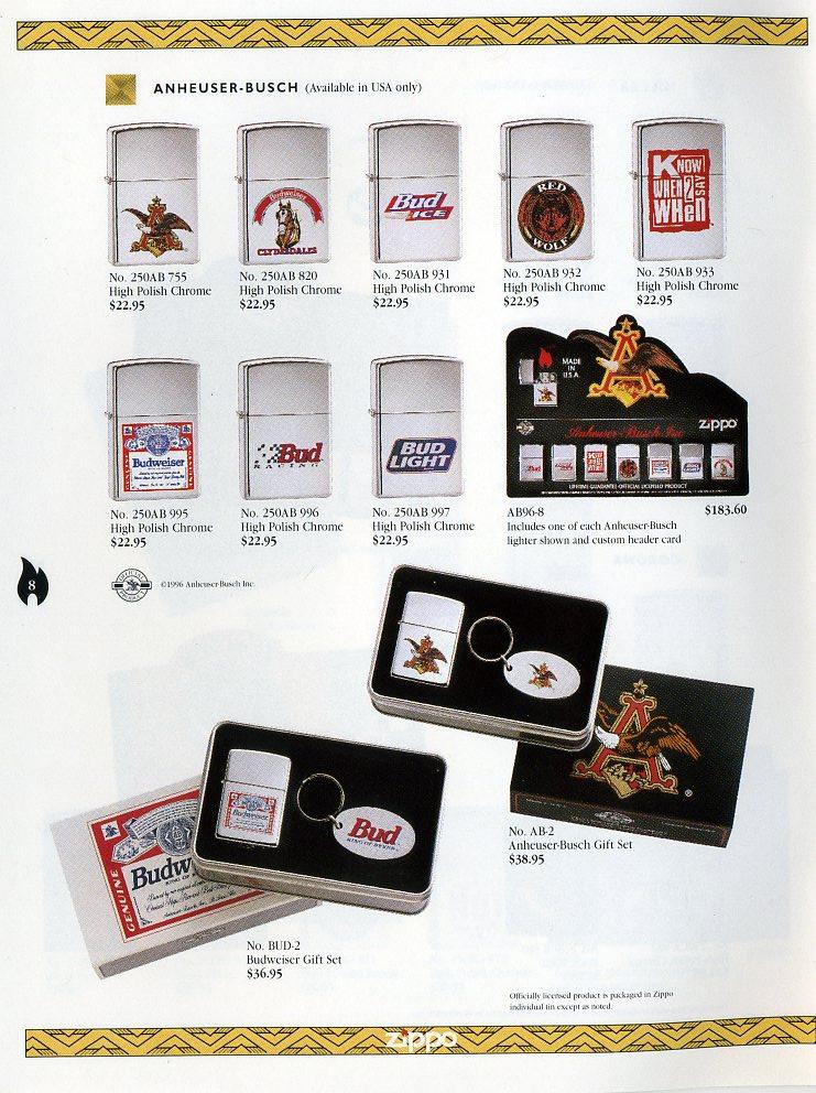 Catalogue ZIPPO Collection 1997 (version américaine) 811