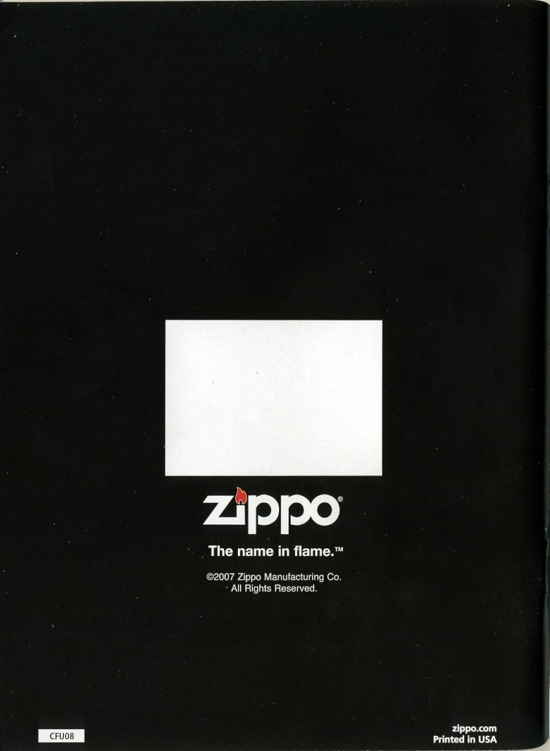 Catalogue ZIPPO 2008 Complete line (version américaine) 8210