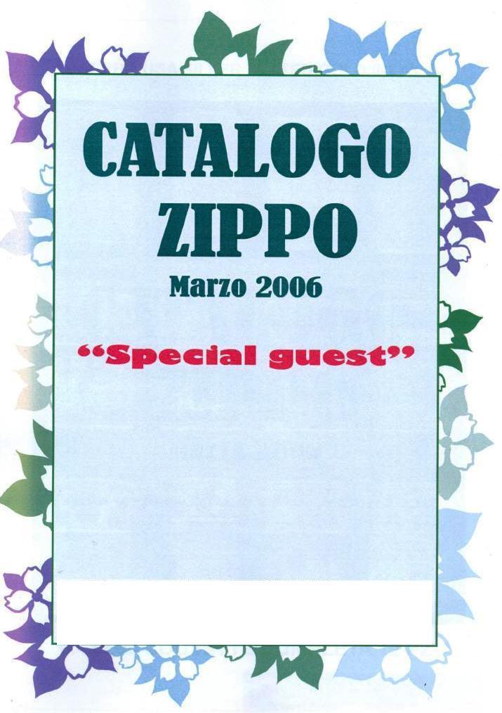 "Catalogue Zippo 2006 ""Special guest""(Italie) Catalo11"