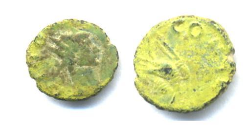 Antoniniano de Claudio II (Aguila: CONSECRATIO) Patina10