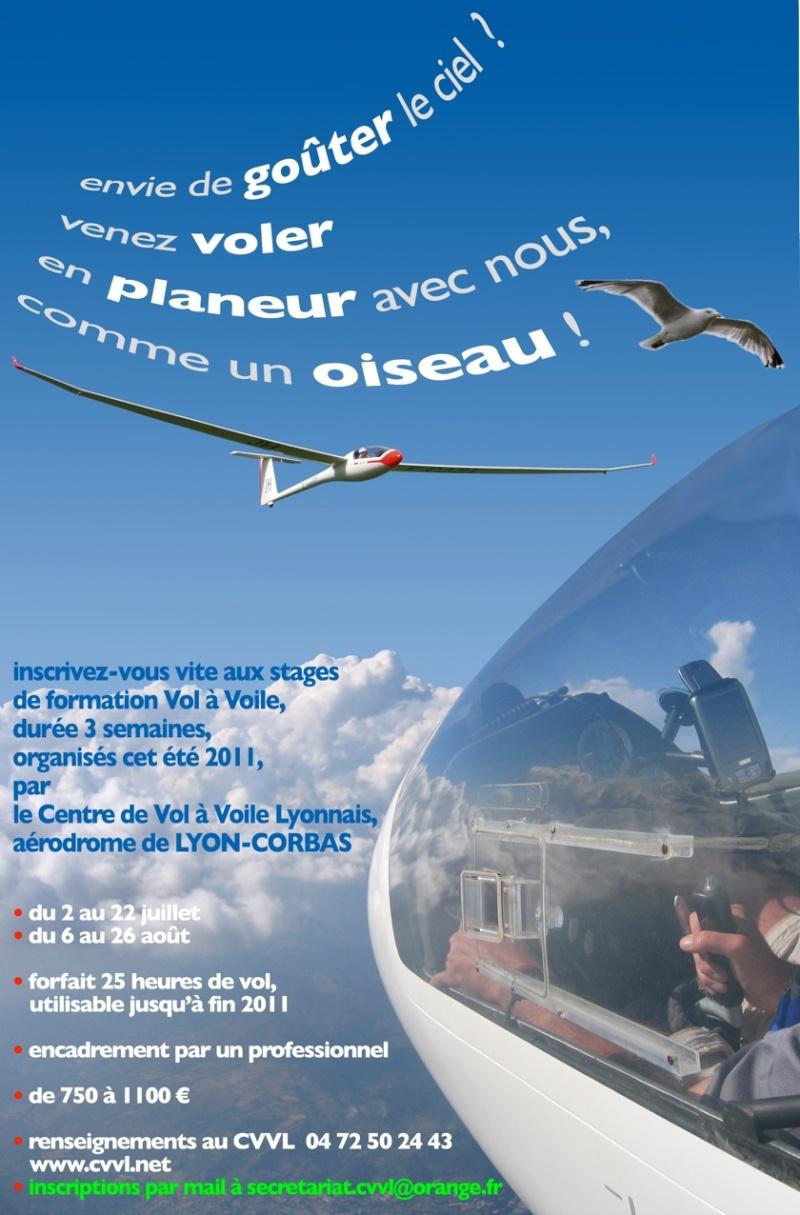 Stages Planeur Lyon Vacances Estivales Affich11