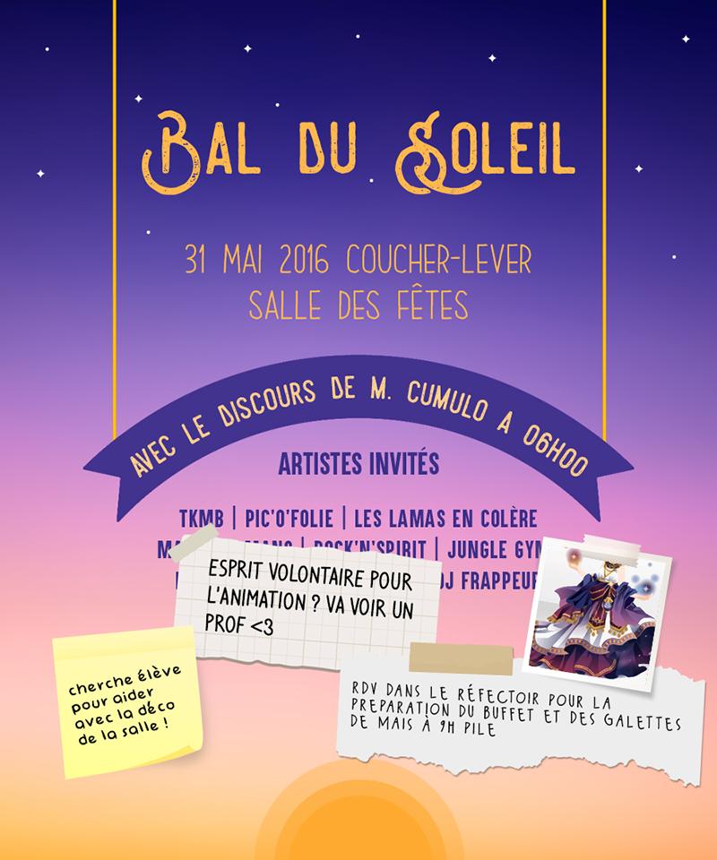 Poster Bal du Soleil
