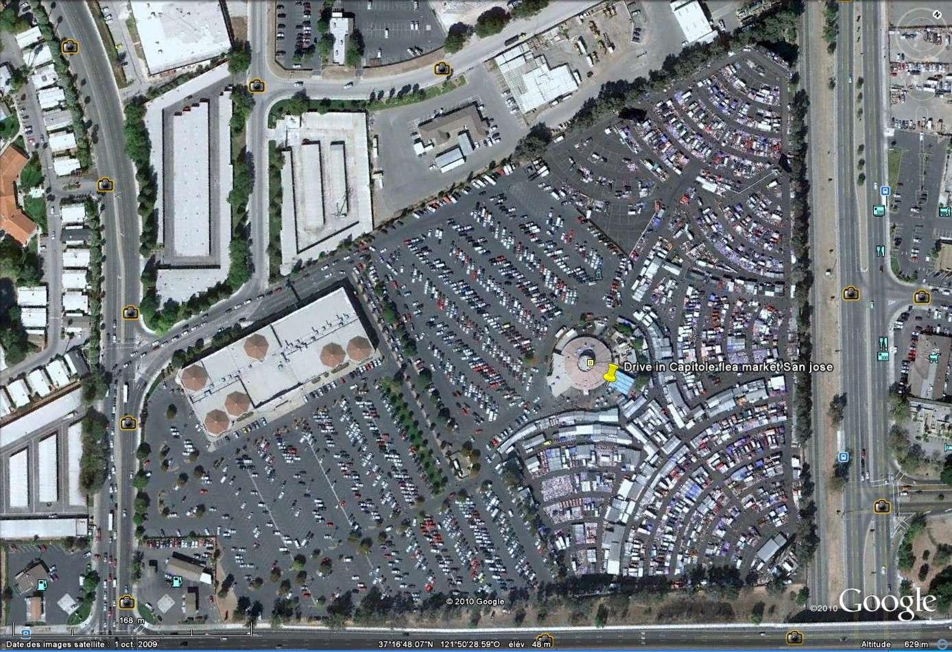 """""""Drive-in theaters"""" transformés en vide-grenier ( swap meet area, open air flea market ), Californie, USA Drive_16"""