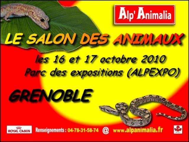 Salon de Grenoble ALP'ANIMALIA le 16/17 octobre Affich10