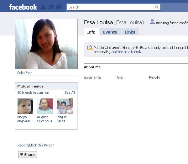 Orang NUNTUNAN di facebook 117