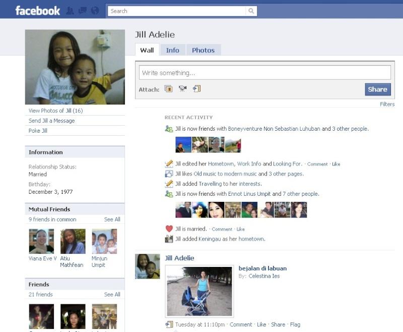 Orang NUNTUNAN di facebook 312