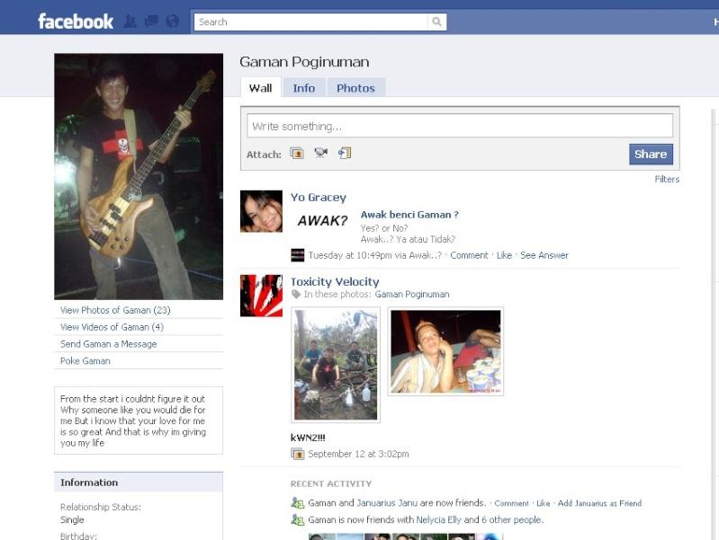 Orang NUNTUNAN di facebook 412