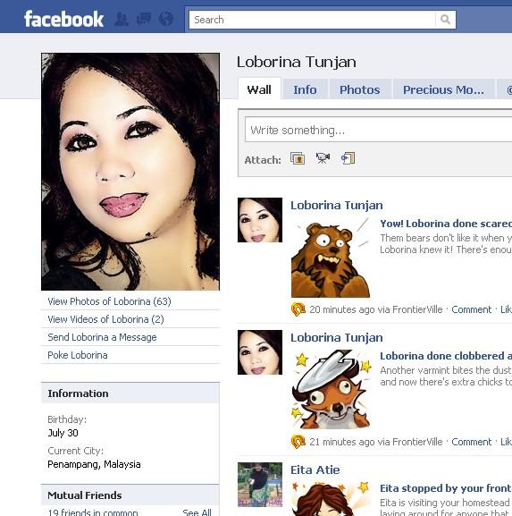 Orang NUNTUNAN di facebook 513