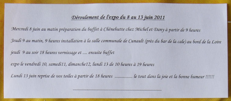 Exposition des Ateliers 2011 à Cunault ....... 20110511
