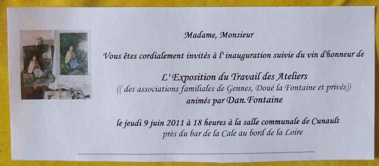 Exposition des Ateliers 2011 à Cunault ....... 20110512