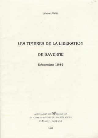 LES TIMBRES DE LA LIBERATION DE SAVERNE Linder11