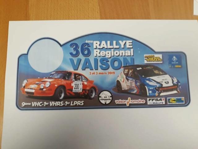 [84] 02-03/03/2019 36ème rallye régional de Vaison 9ème VHC 1er VHRS/LRPS 48935110