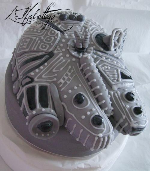 Millenium Falcon cake/ torta Millenium Falcon Star Wars Imgp0612