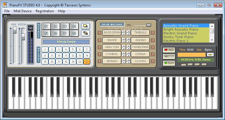 برنامج تحويل لوحة المفاتيح إلى بيانو حقيقي Pianof10