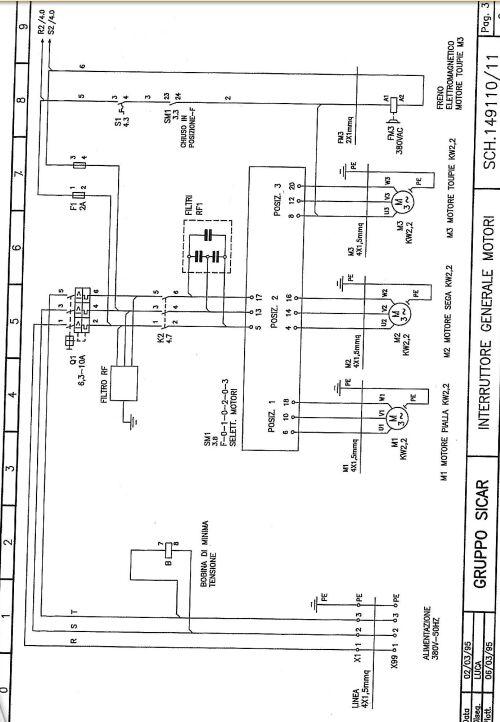 3 fils noirs +1 terre pour un moteur mono Combin10