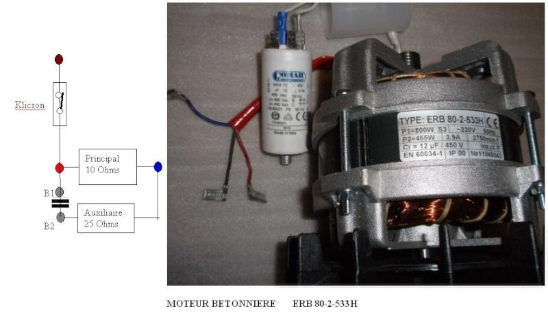 Branchement moteur électrique monophase de betonniere Moteur10