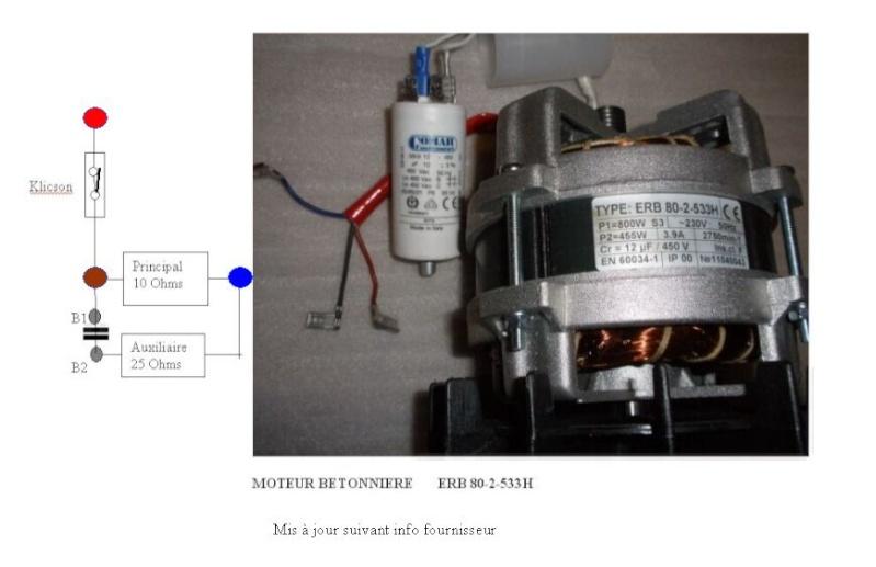 Branchement moteur électrique monophase de betonniere Moteur11