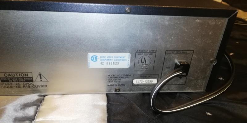 Harmon kardon cassette tape deck td4400 Img_2060