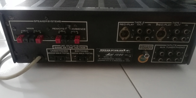 Marantz model 1040 used amplifier Img_2062